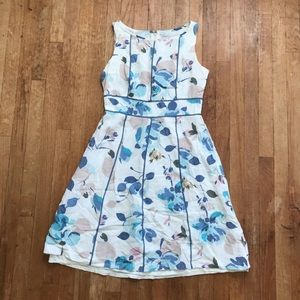 Adrianna Papell Petites Spring Floral A Line Dress